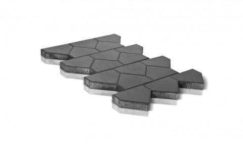 Тротуарная плитка BRAER Тиара, серый, h= 60