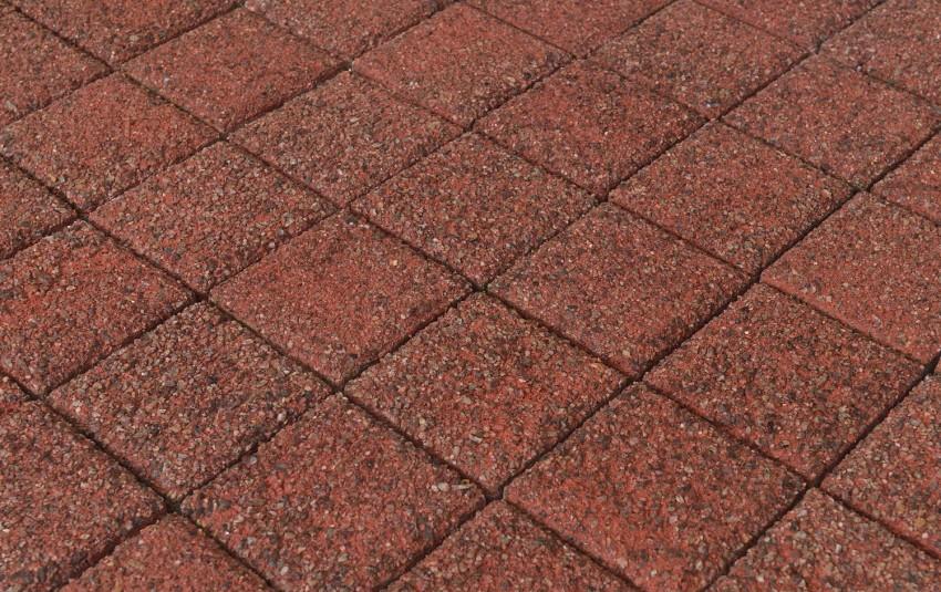 Тротуарная плитка BRAER Лувр, Гранит красный, h=60 мм