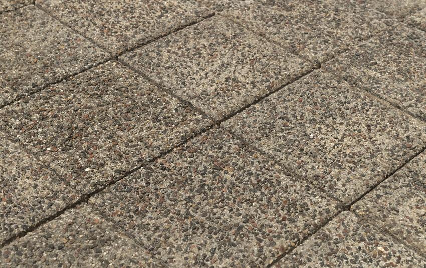 Тротуарная плитка BRAER Лувр, Гранит серый, h= 60