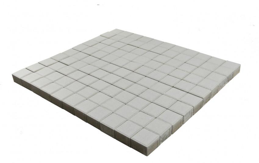 Тротуарная плитка BRAER Лувр, Белый, h=60 мм