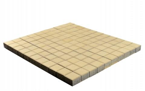 Тротуарная плитка BRAER Лувр, песочный, 200x200, h=60