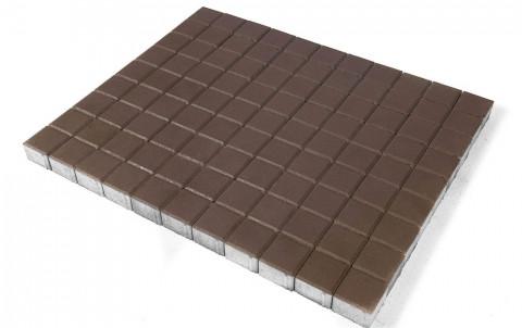 Тротуарная плитка BRAER Лувр, коричневый, h= 60, 100x100