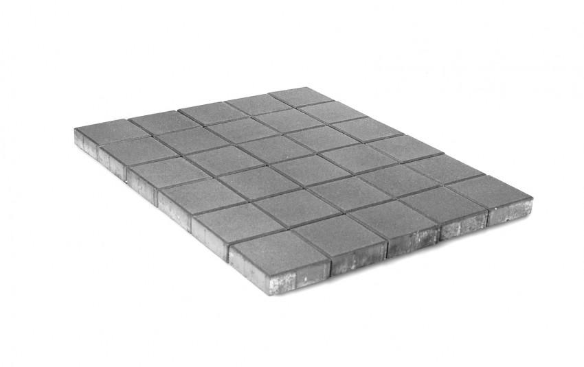 Тротуарная плитка BRAER Лувр, Серый, h=60 мм