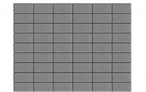 Тротуарная плитка BRAER Прямоугольник, серый, h= 40