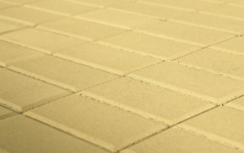 Тротуарная плитка BRAER Прямоугольник, песочный, h= 40