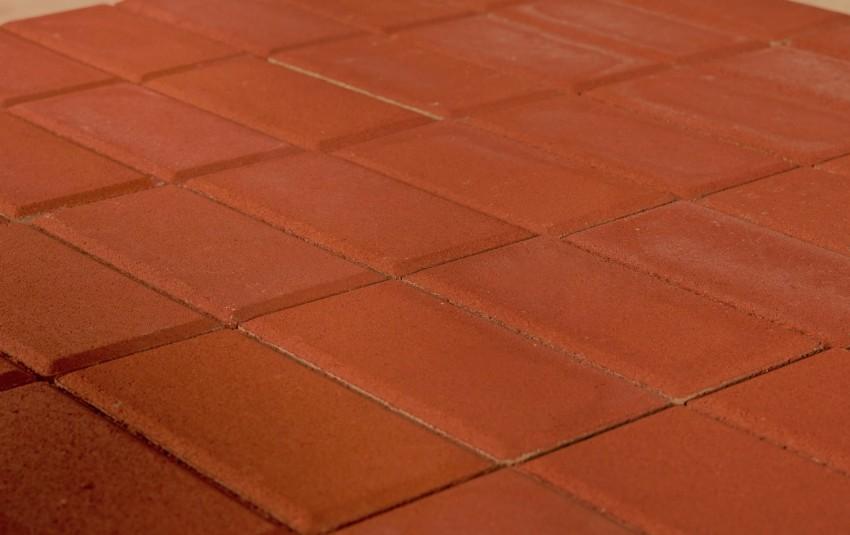 Тротуарная плитка BRAER Прямоугольник, красный, h= 40