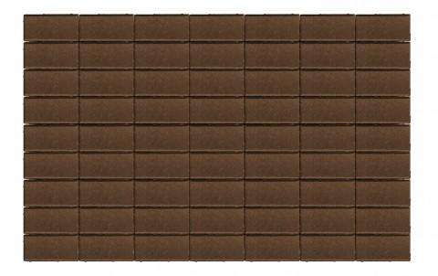 Тротуарная плитка BRAER Прямоугольник, коричневый, h= 60
