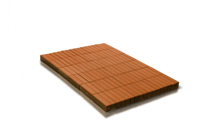 Тротуарная плитка BRAER Прямоугольник, Оранжевый, h=60 мм