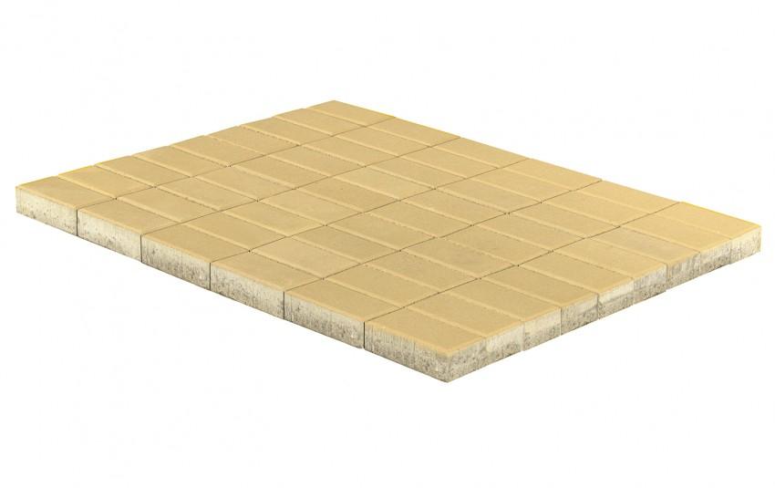 Тротуарная плитка BRAER Прямоугольник, песочный, h= 60