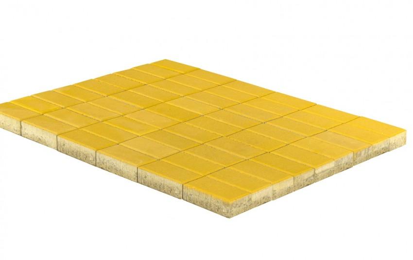 Тротуарная плитка BRAER Прямоугольник, Желтый, h=60 мм