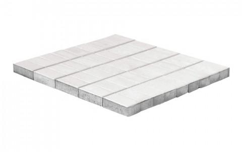 Тротуарная плитка BRAER Прямоугольник, белый, h= 60