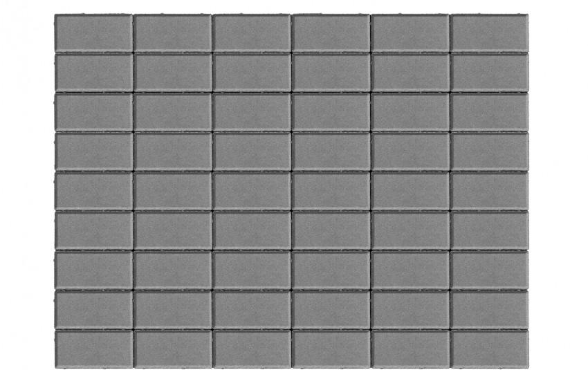 Тротуарная плитка BRAER Прямоугольник, серый, h= 70
