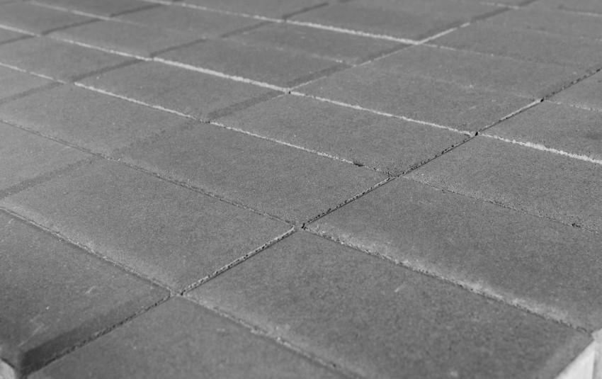 Тротуарная плитка BRAER Прямоугольник, серый, h= 80