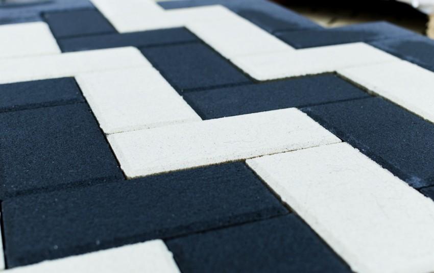 Тротуарная плитка BRAER Прямоугольник, Белый, h=80 мм
