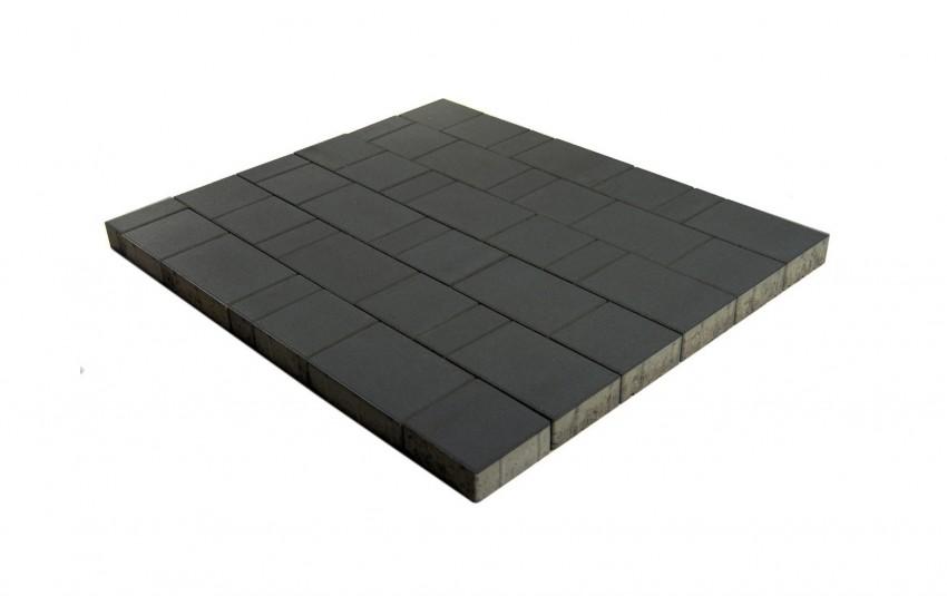 """Тротуарная плитка BRAER Старый город """"Ландхаус"""", Черный, h=60 мм"""