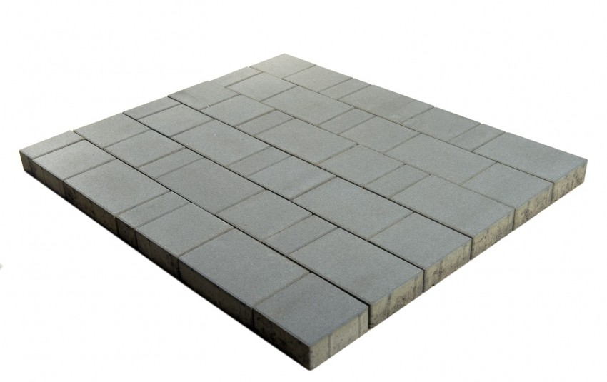 "Тротуарная плитка BRAER Старый город ""Ландхаус"", Серый, h=60 мм"