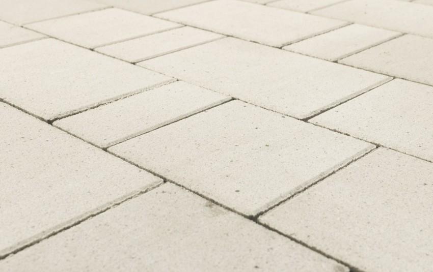 "Тротуарная плитка BRAER Старый город ""Ландхаус"", Белый, h=60 мм"