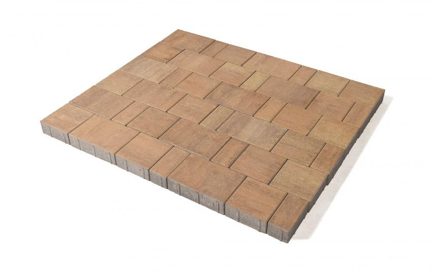 Тротуарная плитка BRAER Старый город Ландхаус, прайд, h= 80