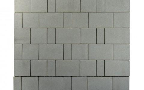 Тротуарная плитка BRAER Старый город Ландхаус, серый, h= 80
