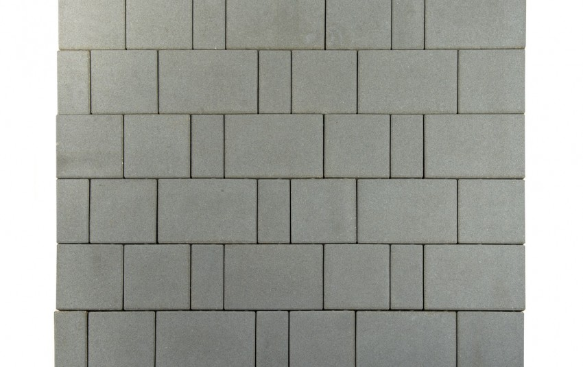 "Тротуарная плитка BRAER Старый город ""Ландхаус"", Серый, h=80 мм"