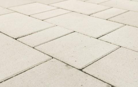 "Тротуарная плитка BRAER Старый город ""Ландхаус"", Белый, h=80 мм"