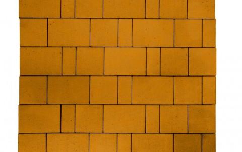 Тротуарная плитка BRAER Старый город Ландхаус, оранжевый, h= 80