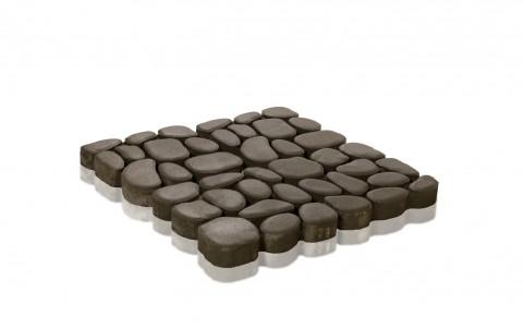 Тротуарная плитка BRAER Грин Галет, Серый, h=80 мм