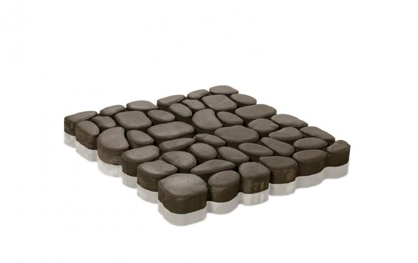 Тротуарная плитка BRAER Грин Галет, серый, h= 80