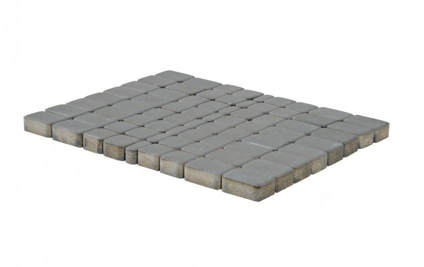 Тротуарная плитка BRAER Классико, серый, h= 60