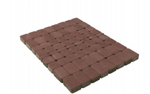 Тротуарная плитка BRAER Классико, винный, h= 60