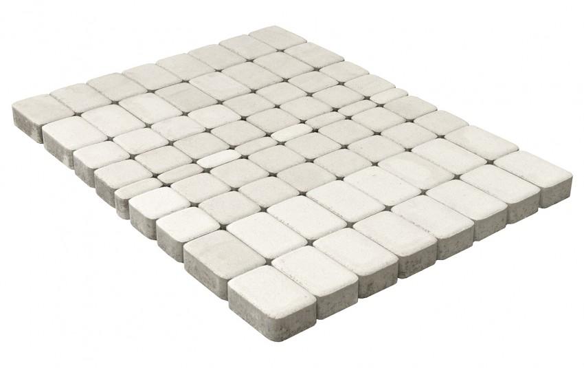 Тротуарная плитка BRAER Классико, Белый, h=60 мм