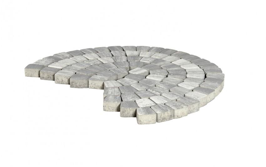 Тротуарная плитка BRAER Классико круговая, туман, h= 60