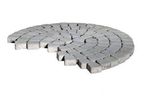 Тротуарная плитка BRAER Классико круговая, серый, h= 60