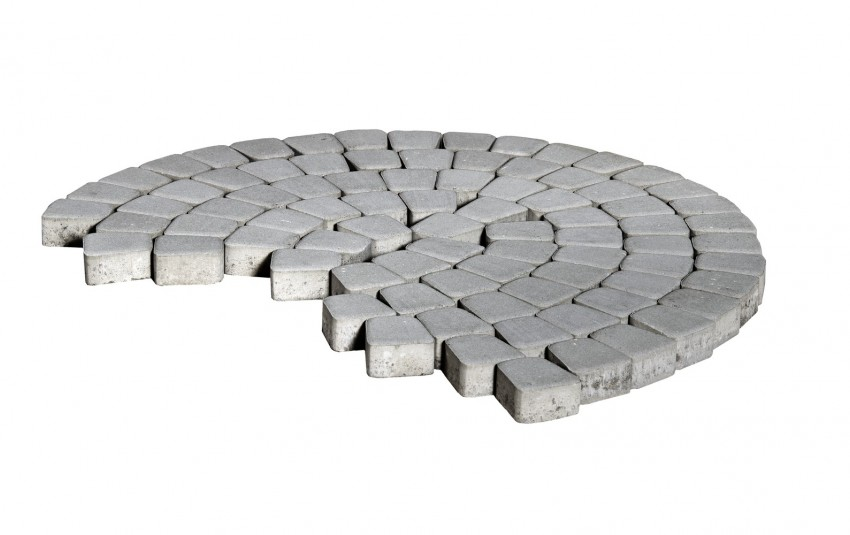 Тротуарная плитка BRAER Классико круговая, Серый, h=60 мм