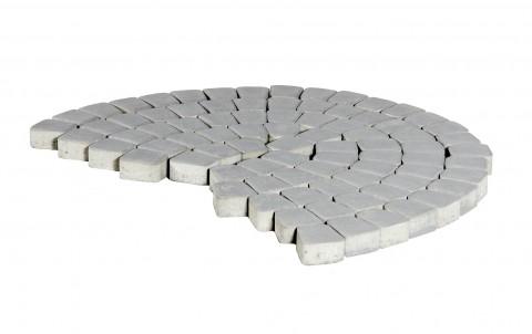 Тротуарная плитка BRAER Классико круговая, грифельный, h= 60
