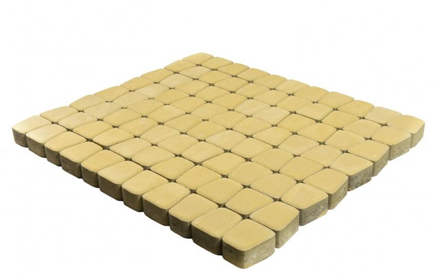 Тротуарная плитка BRAER Классико круговая, Песочный, h=60 мм