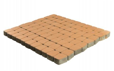 Тротуарная плитка BRAER Классико круговая, янтарный, h= 60