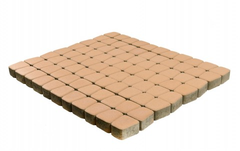 Тротуарная плитка BRAER Классико круговая, корраловый, h= 60