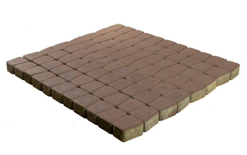 Тротуарная плитка BRAER Классико круговая, коричневый, h= 60