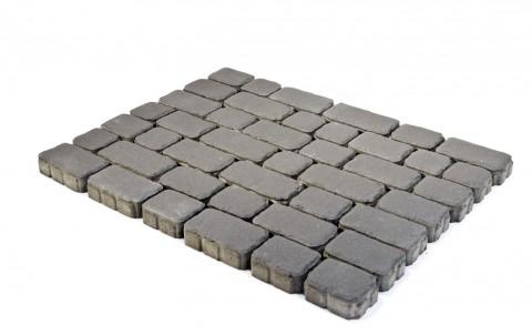 Тротуарная плитка BRAER Ривьера, Серый, h=60 мм