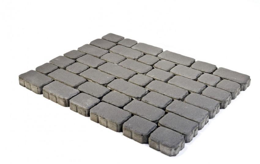 Тротуарная плитка BRAER Ривьера, серый, h= 60