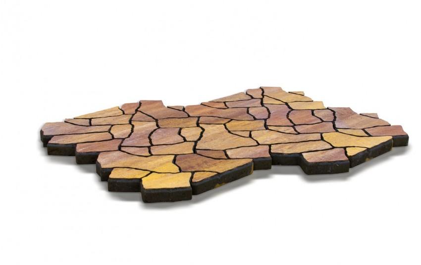 Тротуарная плитка BRAER Сан-Тропе, каньон, h= 70