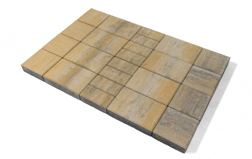 Тротуарная плитка BRAER Мозаика, песчаник, h= 60