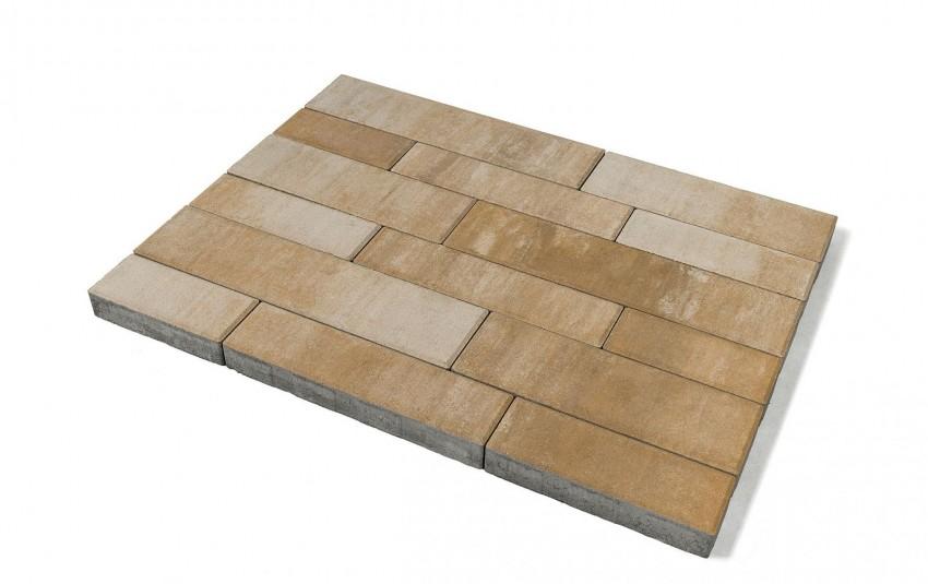 Тротуарная плитка BRAER Домино, плато, h= 60