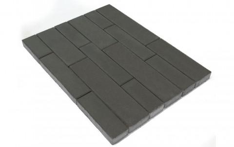 Тротуарная плитка BRAER Домино, серый, h= 60