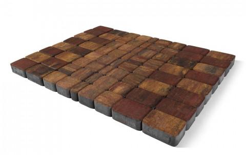 Тротуарная плитка BRAER Классико, Color Mix мальва, h=60