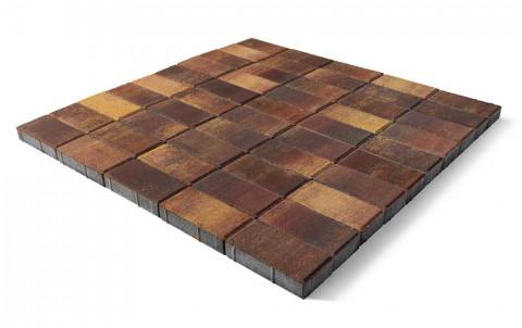 Тротуарная плитка BRAER Прямоугольник, Color Mix мальва, h=60