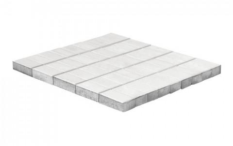 Тротуарная плитка BRAER Прямоугольник, белый h=40