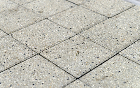 Тротуарная плитка BRAER Сити, гранит на белом, h= 80
