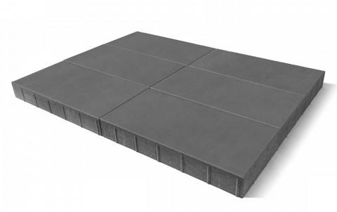 Тротуарная плитка BRAER Сити, Серый, h= 80